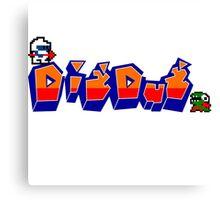 Dig-Dug Canvas Print
