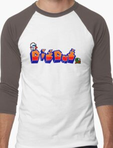 Dig-Dug Men's Baseball ¾ T-Shirt