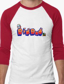 Dig-Dug Men's Baseball ¾ T-Shirt
