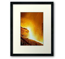 Light Metal Liquid Framed Print