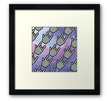 Pixel Hands, Colorful Clouds Framed Print
