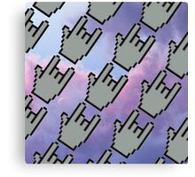 Pixel Hands, Colorful Clouds Canvas Print