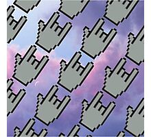 Pixel Hands, Colorful Clouds Photographic Print