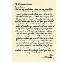 Alex & Laurens Letter Photographic Print