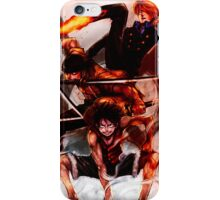 Unstoppable Trio: One Piece iPhone Case/Skin