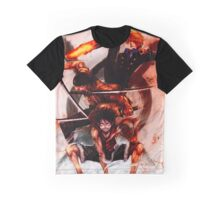 Unstoppable Trio: One Piece Graphic T-Shirt