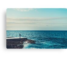 A lonely fisherman in Havana Canvas Print