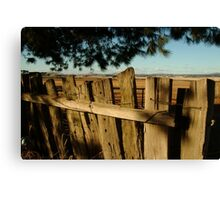 Joe Mortelliti Gallery - Old fence, Ascot Farm Lands Canvas Print