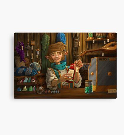 Halfling Magic Item Merchant Canvas Print