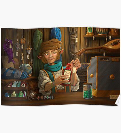Halfling Magic Item Merchant Poster