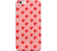 Heart Motif in Pink iPhone Case/Skin
