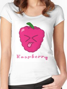 Raspberry! Women's Fitted Scoop T-Shirt