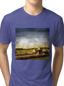 Tractor Working Tri-blend T-Shirt