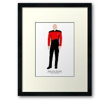 Star Trek - Minimalist Picard Framed Print