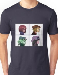 Houkago Tea Time (K-ON!) and Gorillaz mashup Unisex T-Shirt