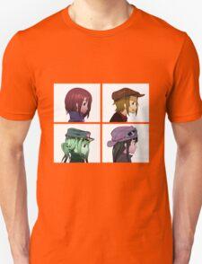 Houkago Tea Time (K-ON!) and Gorillaz mashup Unisex T-Shirt