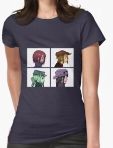 Houkago Tea Time (K-ON!) and Gorillaz mashup Womens T-Shirt