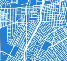 Corpus Christi Map - Light Blue Sticker