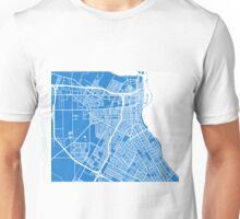 Corpus Christi Map - Light Blue Unisex T-Shirt