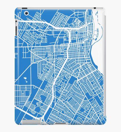 Corpus Christi Map - Light Blue iPad Case/Skin