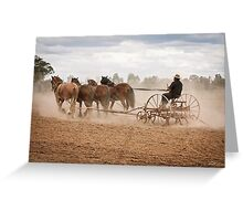Ploughing the Field Greeting Card