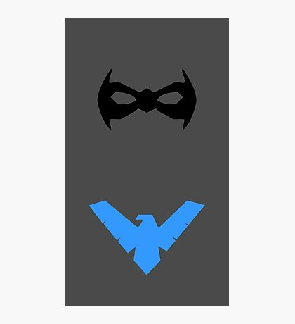 Nightwing mask and emblem Photographic Print