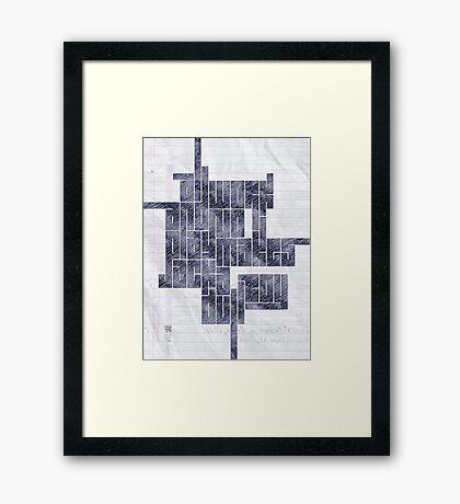 Dull Work Framed Print
