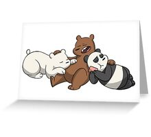 we are bear Greeting Card