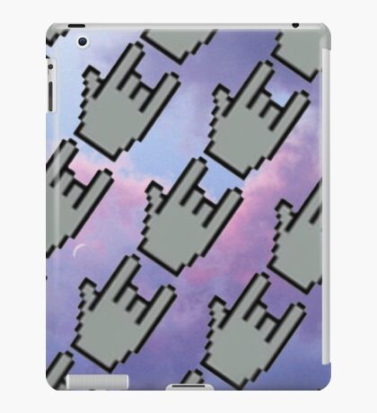 Pixel Hands, Colorful Clouds iPad Case/Skin
