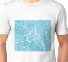 Dallas Map - Baby Blue Unisex T-Shirt