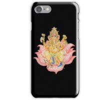 Ganesh on Lotus iPhone Case/Skin