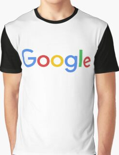 New Google Logo (September 2015) - Clear, High-Quality, Large Graphic T-Shirt