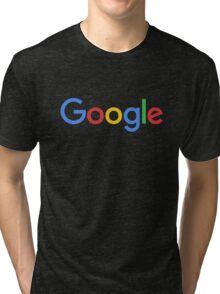 New Google Logo (September 2015) - Clear, High-Quality, Large Tri-blend T-Shirt