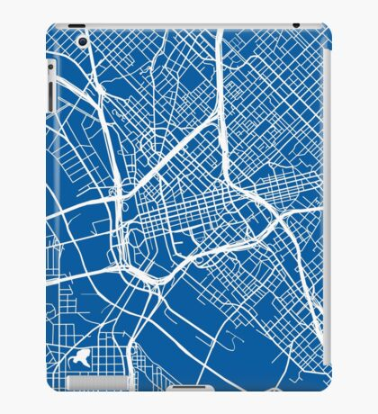 Dallas Map - Deep Blue iPad Case/Skin