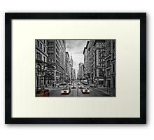 NYC 5th Avenue Yellow Cabs Framed Print