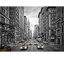 NYC 5th Avenue Yellow Cabs Photographic Print