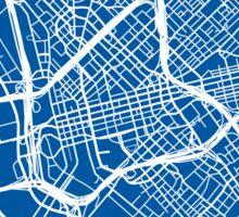 Dallas Map - Deep Blue Sticker