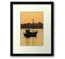 Como Boat Framed Print