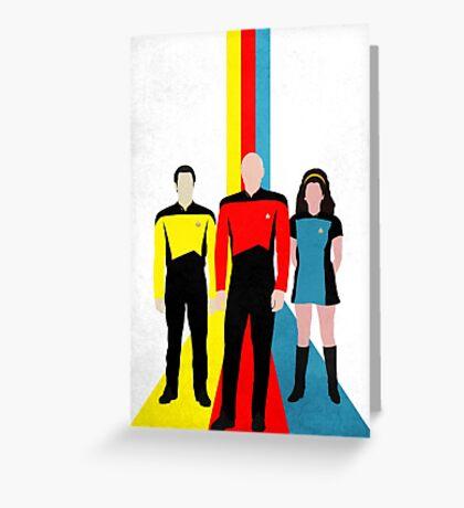 Star Trek - Tricolour Starfleet (TNG) Greeting Card