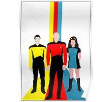 Star Trek - Tricolour Starfleet (TNG) Poster