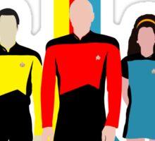 Star Trek - Tricolour Starfleet (TNG) Sticker