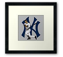 baseball bat derek jetter Framed Print