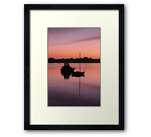 Silhouettes at Como Framed Print