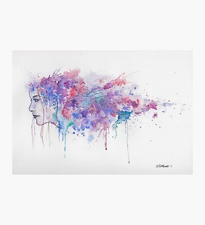 Watercolour Girl Photographic Print