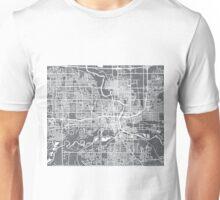 Des Moines Map - Grey Unisex T-Shirt