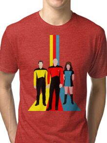 Star Trek - Tricolour Starfleet (TNG) Tri-blend T-Shirt