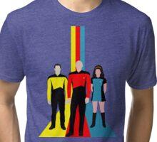 Star Trek - Tricolour Starfleet (TNG) Tri-blend T-Shirt