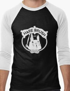 Hare Brush Logo - White Men's Baseball ¾ T-Shirt