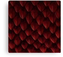 Red Dragon's Scales Canvas Print