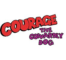 Courage the Cowardly Dog logo Photographic Print